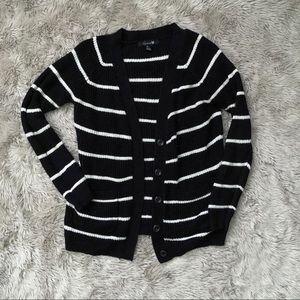 Forever 21 • black and white striped cardigan